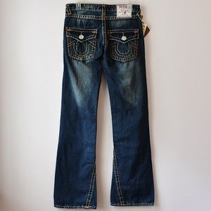 NWT True Religion Joey Twisted Seam Jeans Flare